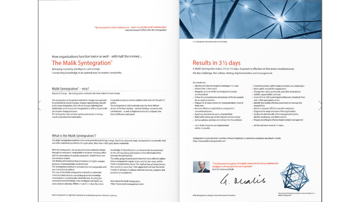 The Malik Syntegration, a brochure